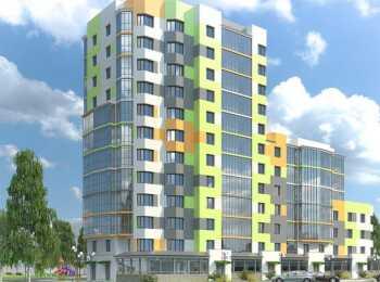 Разноцветные фасады здания